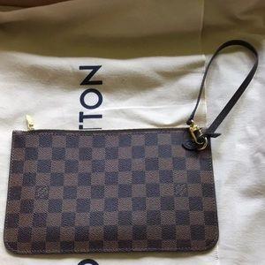 Louis Vuitton Wristlet Pouch w/strap.